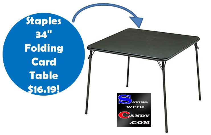 Staples Folding Card Table 16 19 Shipped Regularly 26 99