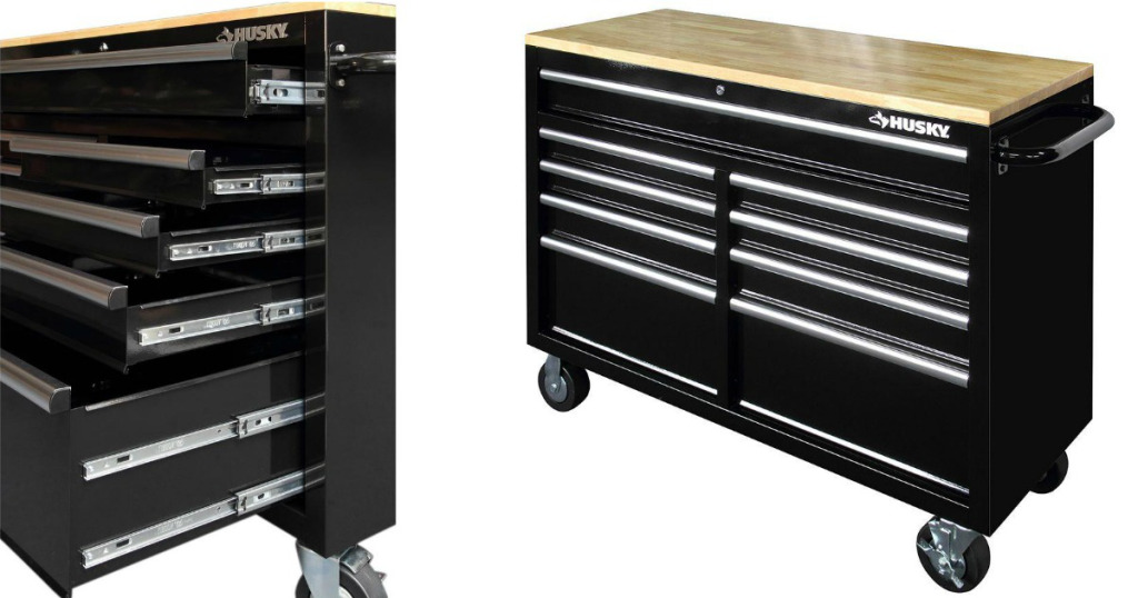 Home Depot Husky 9 Drawer Mobile Workbench Only 199