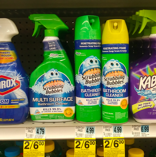 rite aid scrubbing bubbles bathroom cleaners only 1 each regularly saving with candy. Black Bedroom Furniture Sets. Home Design Ideas